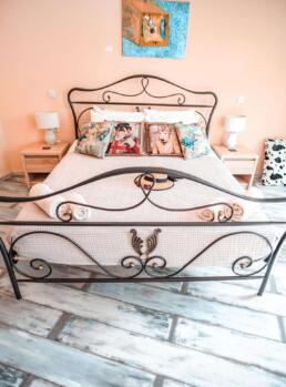 Bed in a cute boutique hotel