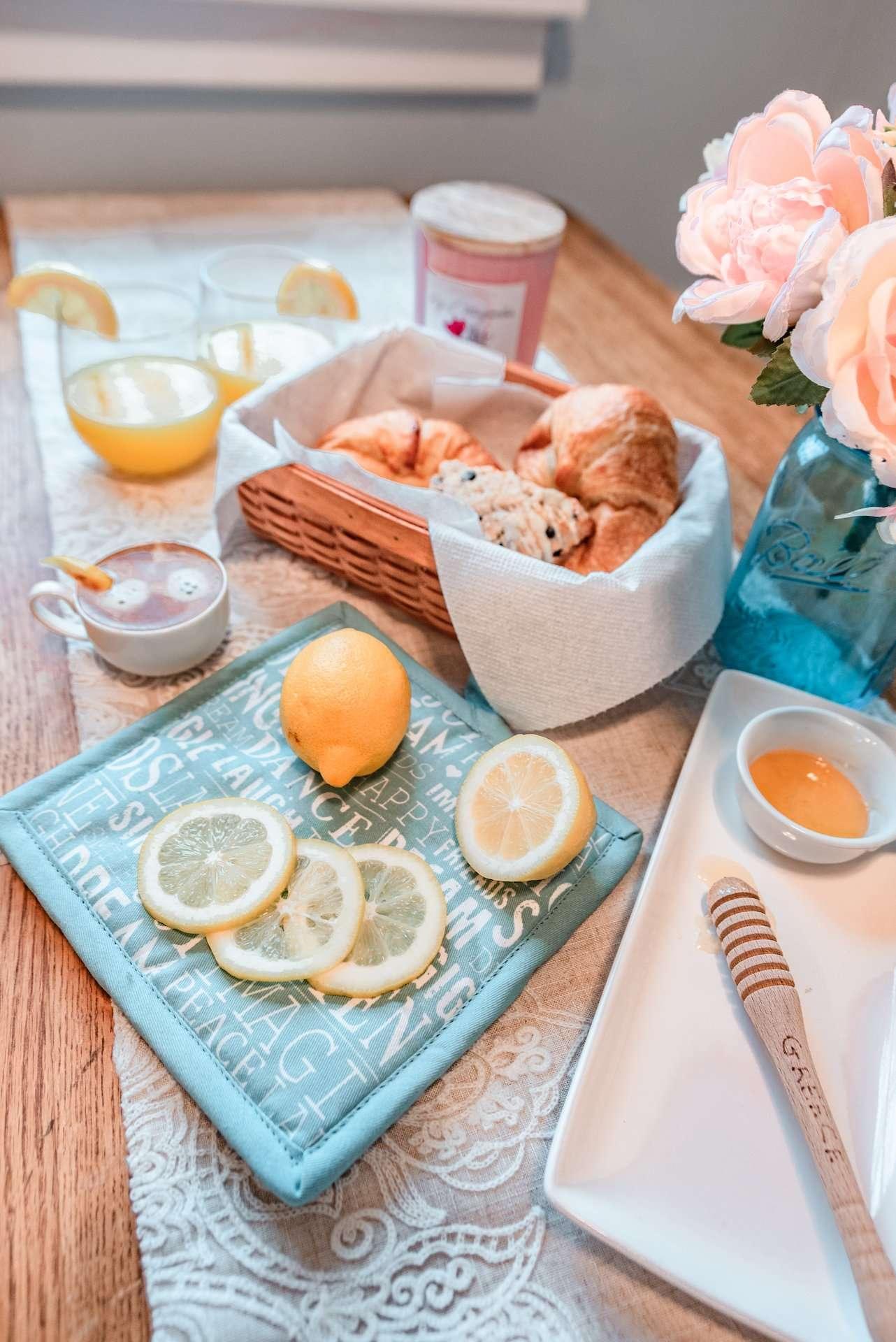 country kitchen breakfast spread