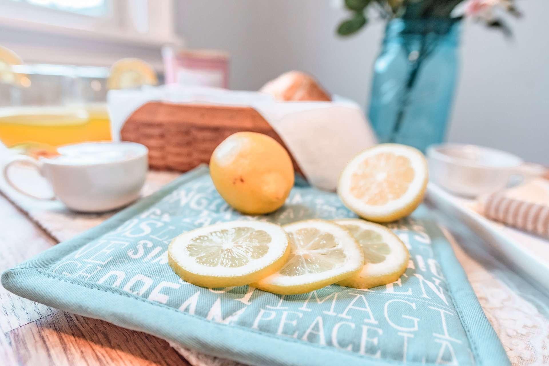 fresh cut lemons spread