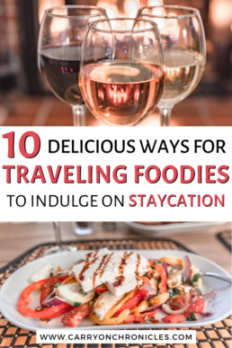 how to enjoy a staycation at home with food