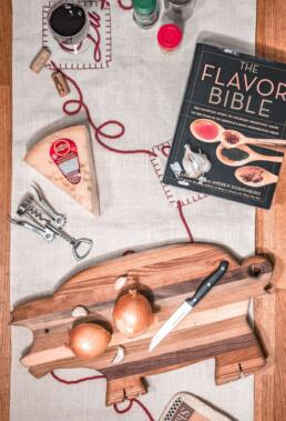 Ingredients for a virtual cooking class