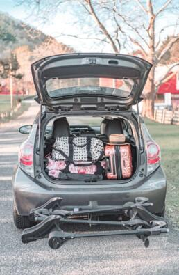 packing the car for a road trip