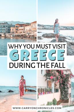 Greece in the fall