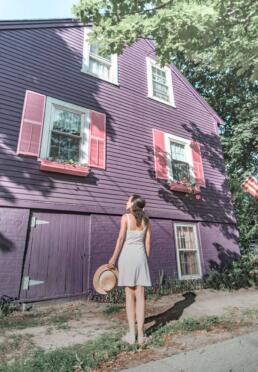 Purple house in Ipswich, Massachusetts