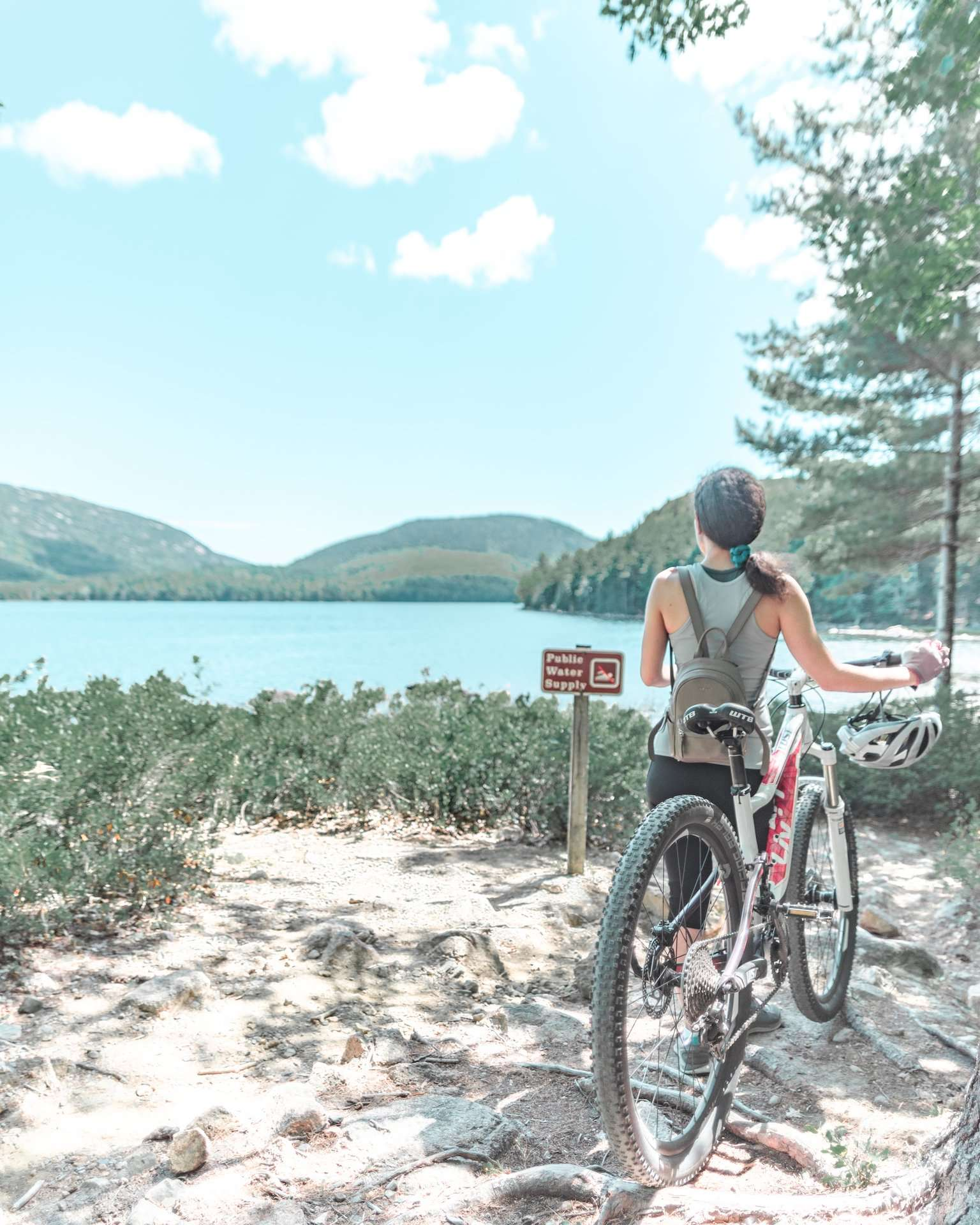 biking at Acadia National Park