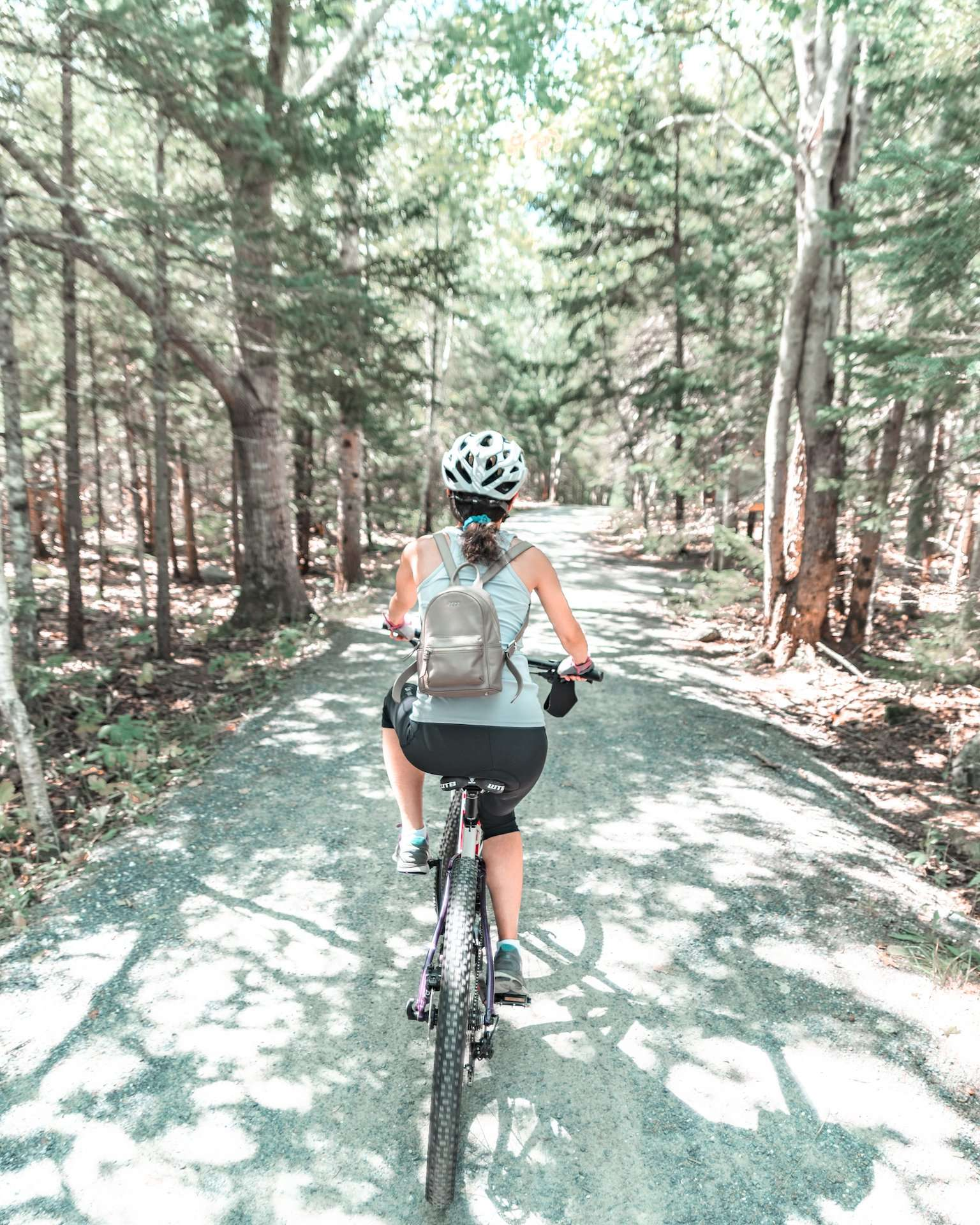 biking carriage roads at Acadia National Park