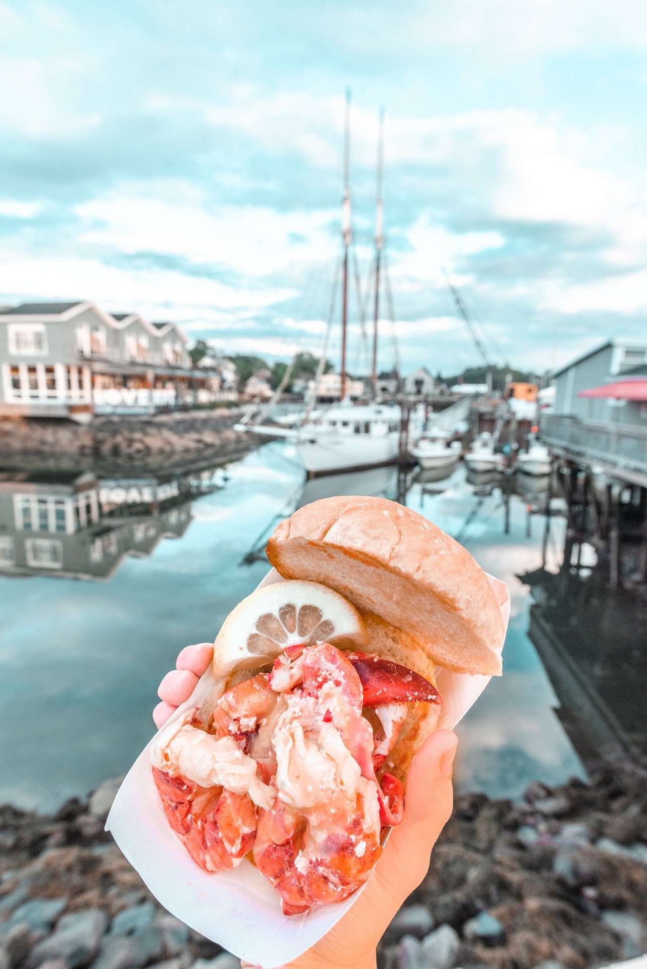 lobster roll from The Clam Shack, Kennebunkport