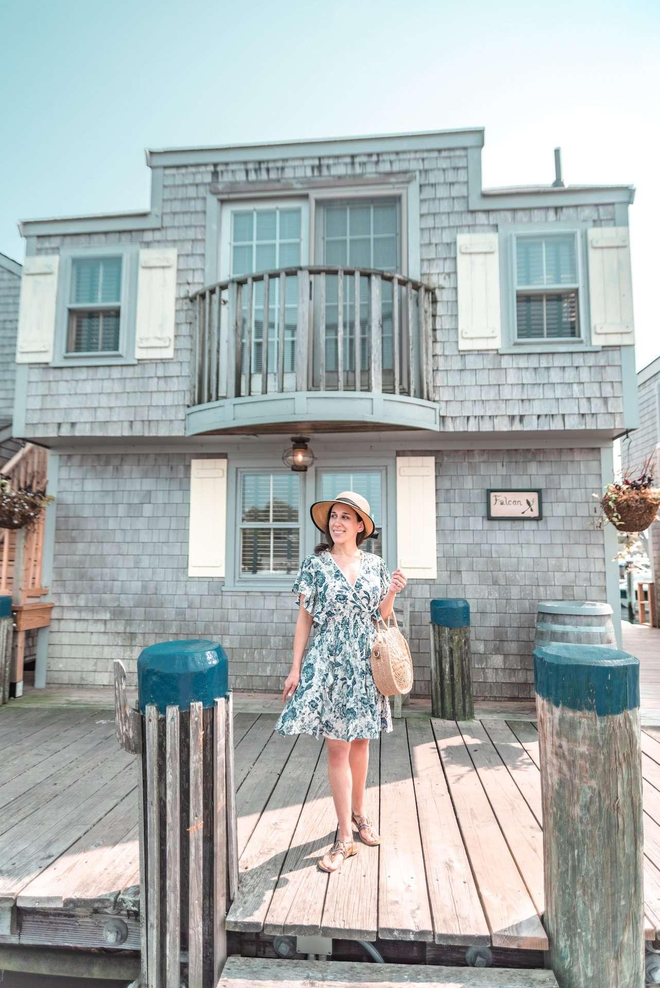 strolling along Nantucket Boat Basin