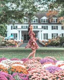 Gorgeous flowers at Woodstock Inn & Resort