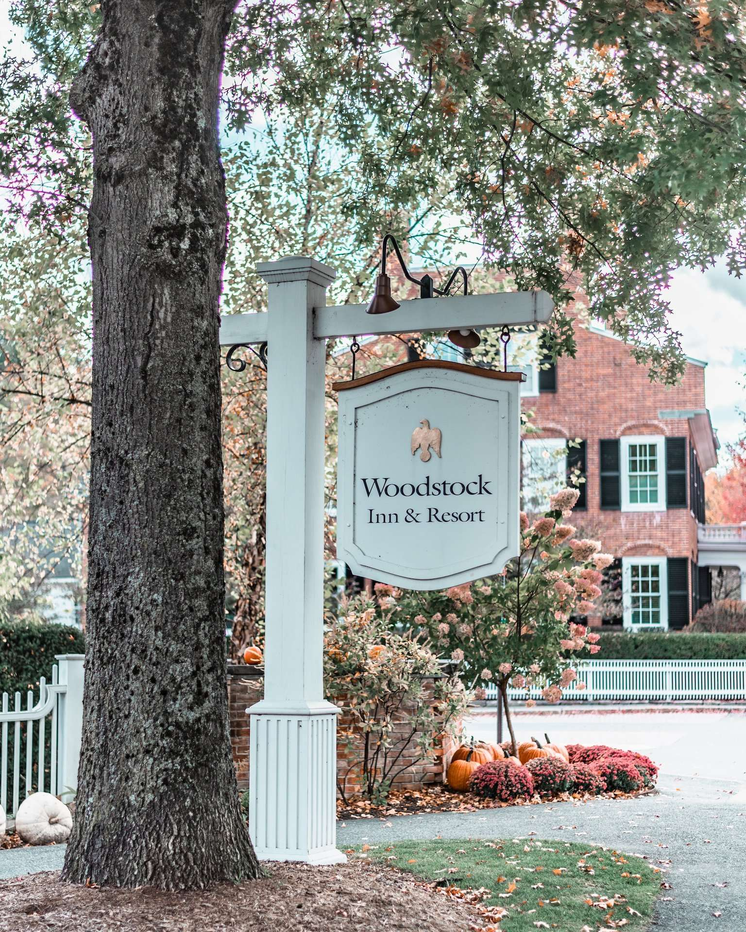 Woodstock Inn & Resort sign