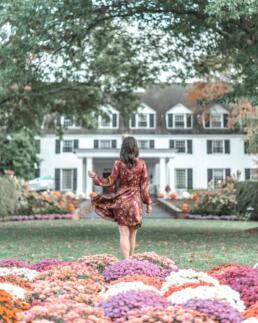 Woodstock Inn & Resort garden flowers