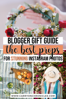 gift guide of photoshoot props