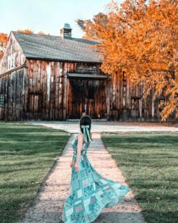 pretty blue hair ribbon for barn shoot