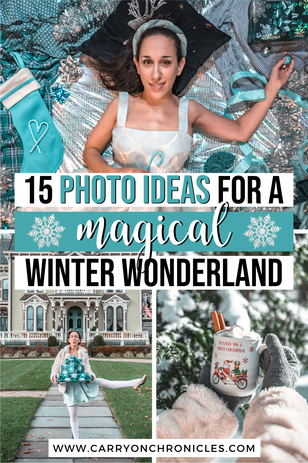 magical winter wonderland photoshoot