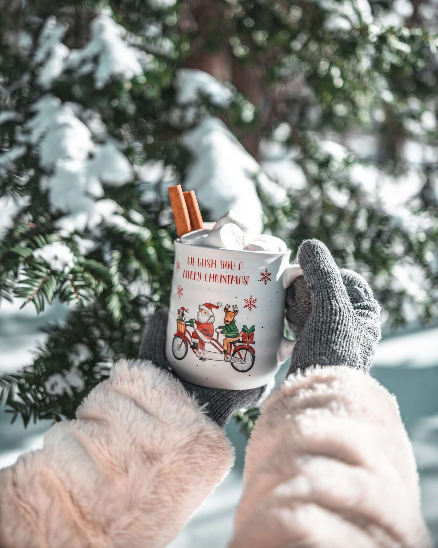snow day hot cocoa mug
