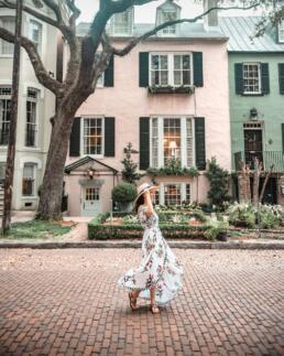 girl on East Jones Street, Savannah