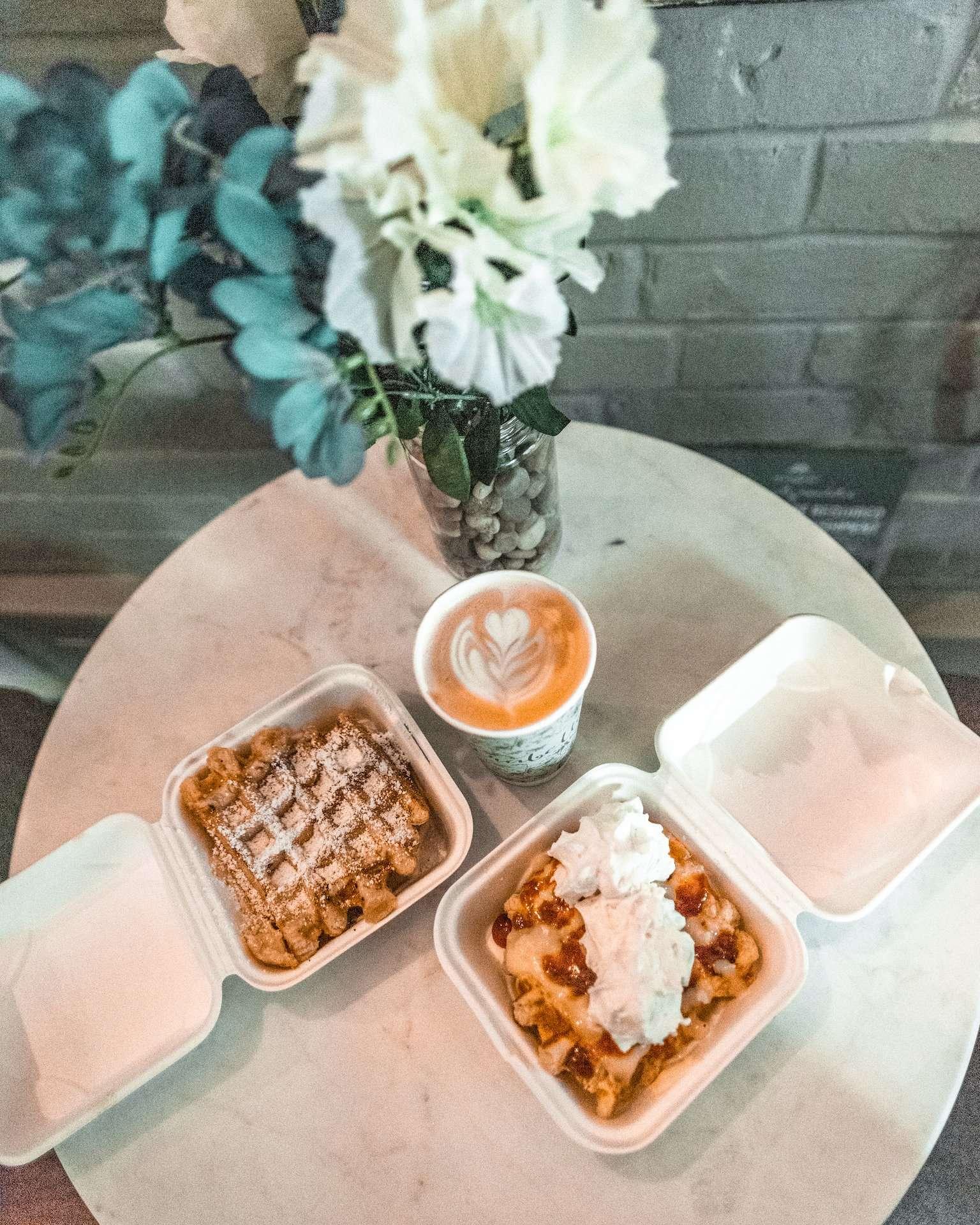 liege waffles at Mirabelle Savannah