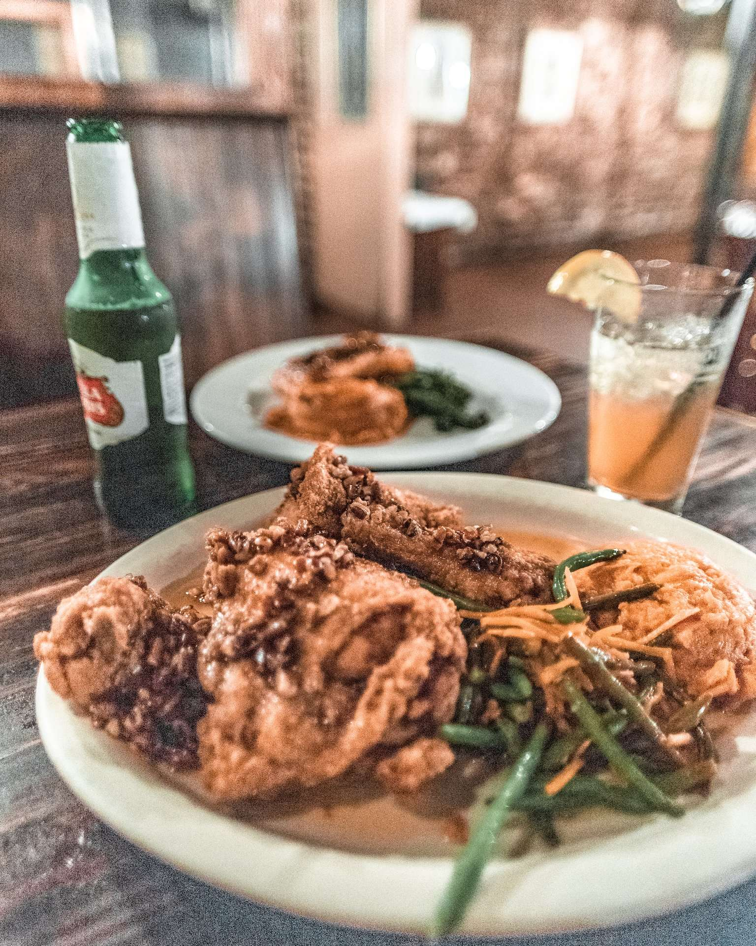 pecan crusted chicken at The Pirate's House